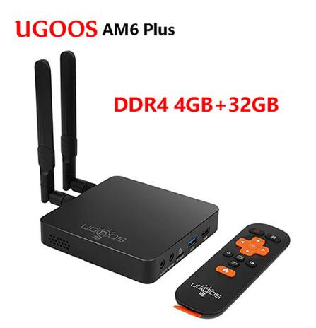 UGOOS AM6 Plus Android 9.0 Smart TV BOX 4GB/32 GB TV BOX Amlogic S922X-J 1000M 2.4G 5G Youtube Netflix WiFi Media Player Set BOX