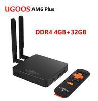 UGOOS AM6 Plus Android 9.0 Smart TV BOX 4GB/32 GB TV BOX Amlogic S922X J 1000M 2.4G 5G youtube Netflix WiFi Media Player Set BOX