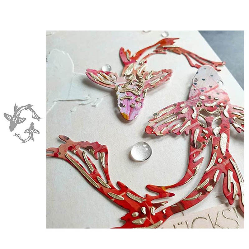 Carp Fish Metal Cutting Dies Scrapbooking Embossing Paper Card Making Craft DIY 2020 Dies