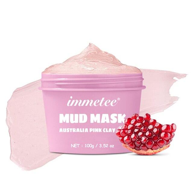 100g Australian Pink Mud Mask Deep Cleansing Mask Shrink Pore Removal Blackhead Moisturizing Peel Mask For Face Care Korean 1