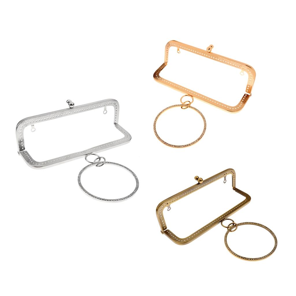 Metal Purse Frame Clutch Handle Bag L Shape Kiss Clasp Lock Handmade DIY Clutch Bag Handbag And Purse Making