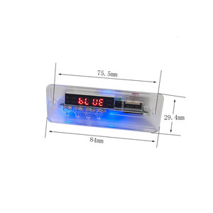 Image 3 - AIYIMA MP3 Decoder Audio Board Musik Player Blau Led anzeige 5W * 2 Verstärker Bluetooth Dekodierung AUX USB SD karte FM Radio