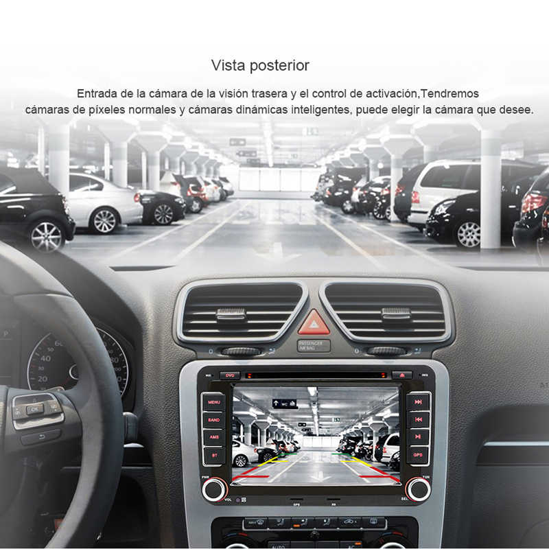 AWESAFE 2 Din reproductor Multimedia para coche Radio para asiento León 2 MK2 2005 2006 2007-2012 VW Skoda navegación GPS Audio estéreo DVD para coche