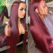 Preplucked Remy человеческие волосы, кружевные передние парики 99J # 180%, плотные кружевные передние Искусственные парики