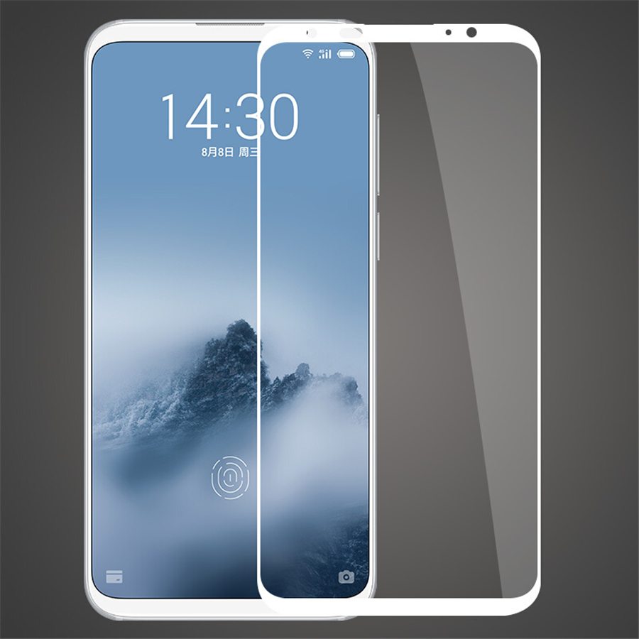 Full Cover Tempered Glass On The For <font><b>Meizu</b></font> <font><b>16</b></font> 16X 16S 16XS 16th Screen Protector Film For <font><b>Meizu</b></font> Note 8 9 X8 M8 Lite Note V8 <font><b>Pro</b></font> image