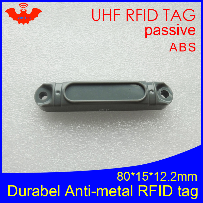 UHF RFID Anti-metal Tag 915mhz 868mhz Impinj Monza4QT EPCC1G2 6C 80*15*12.2mm Durable ABS Pallet Smart Card Passive RFID Tags
