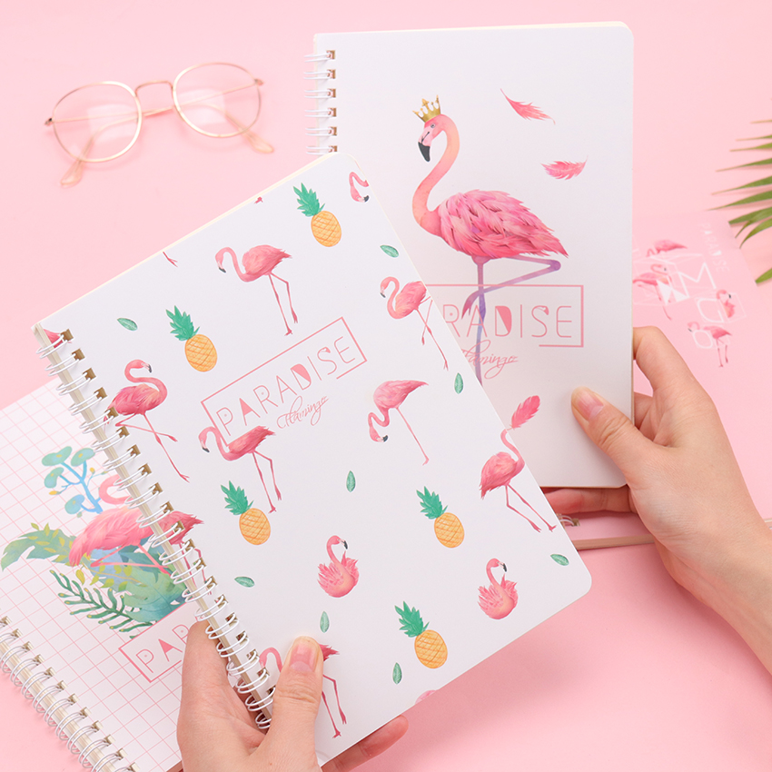 1PC Notebook A5 Office Stationery Travel Diary Creative Grid Coil Book Notepad Student School Supplies Stationery 120 Pages