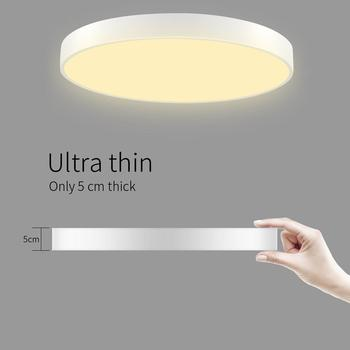 48W Ultra Thin Round LED Ceiling Down Light Bathroom Kitchen Living Lamp Day Warm White Stepless Dimmable