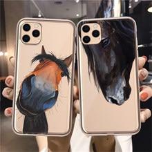 Frederik a grande beleza cavalo capa de telefone escudo macio para apple iphone 12 8 7 6 plus x xs max xr 11 pro voltar fundas capa