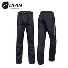 QIAN-chubasquero Impermeable para hombre y mujer, pantalones de lluvia para exteriores, gruesos, impermeables, para motocicleta, pesca, Camping