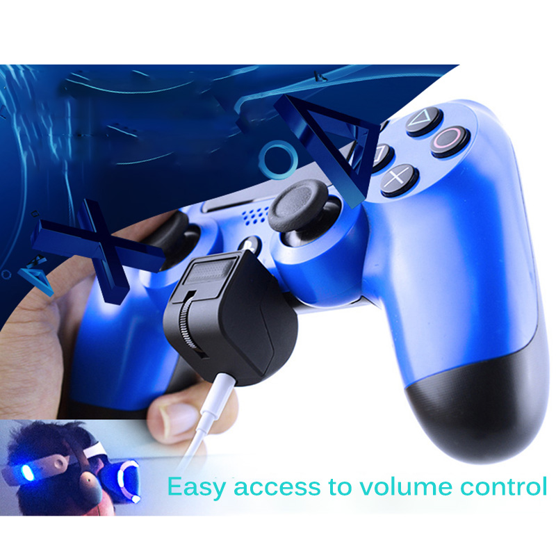 Audio Mini Handle Headset Adapter For PSVR PS4 Controller Micphone Earphone Voice Control Gaming Accessories for PS4 VR Game image