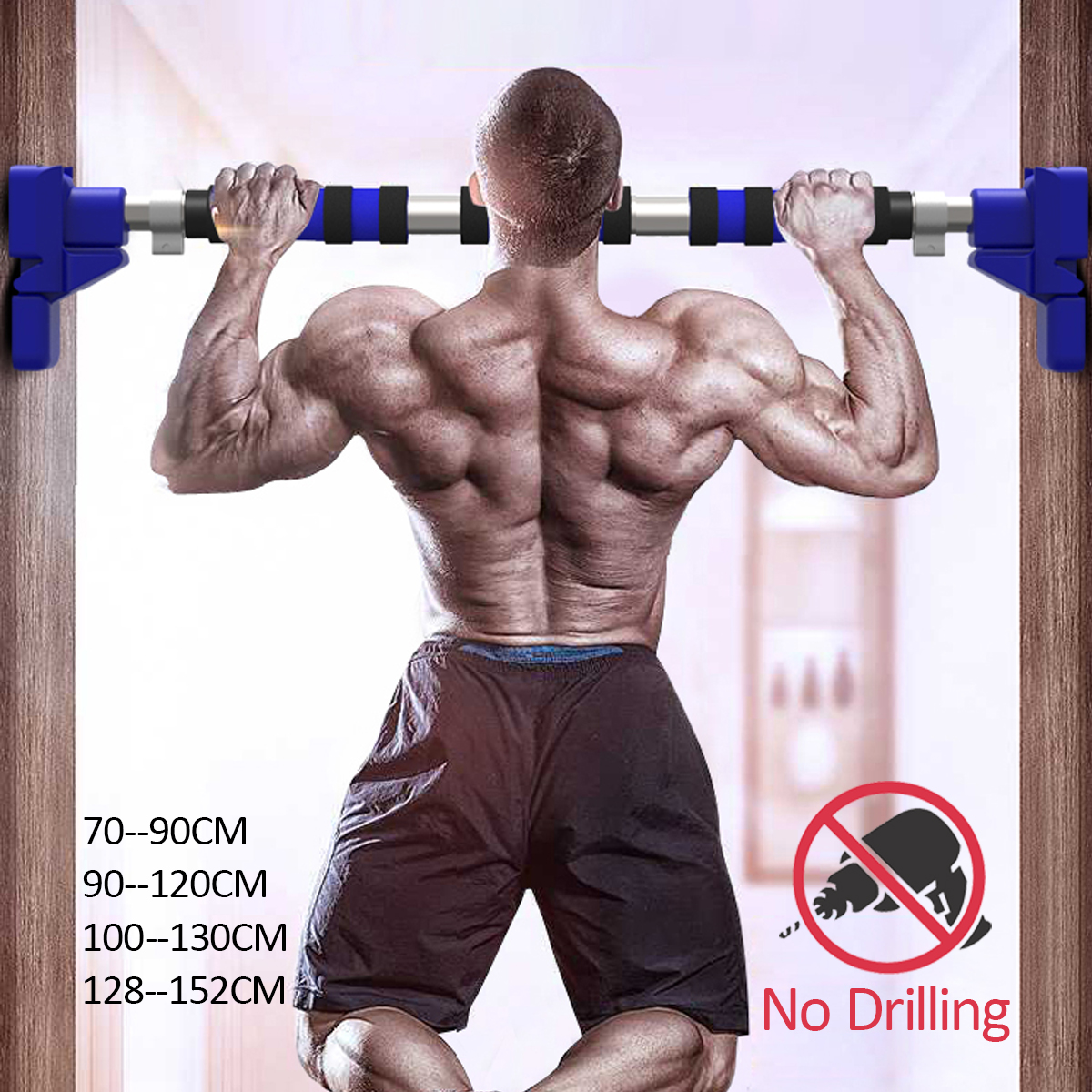 Drzwi poziome bary stalowe 500kg domowa siłownia trening podbródek push Up Pull Up trening Bar Sport Fitness przysiady sprzęt Heavy Duty