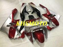 CUSTOM Fairing Kit สำหรับ KAWASAKI Ninja ZX9R 94 95 96 97 ZX 9R 1994 1995 1996 1997 ABS สีแดงเงิน fairings ชุด + ของขวัญ KT01