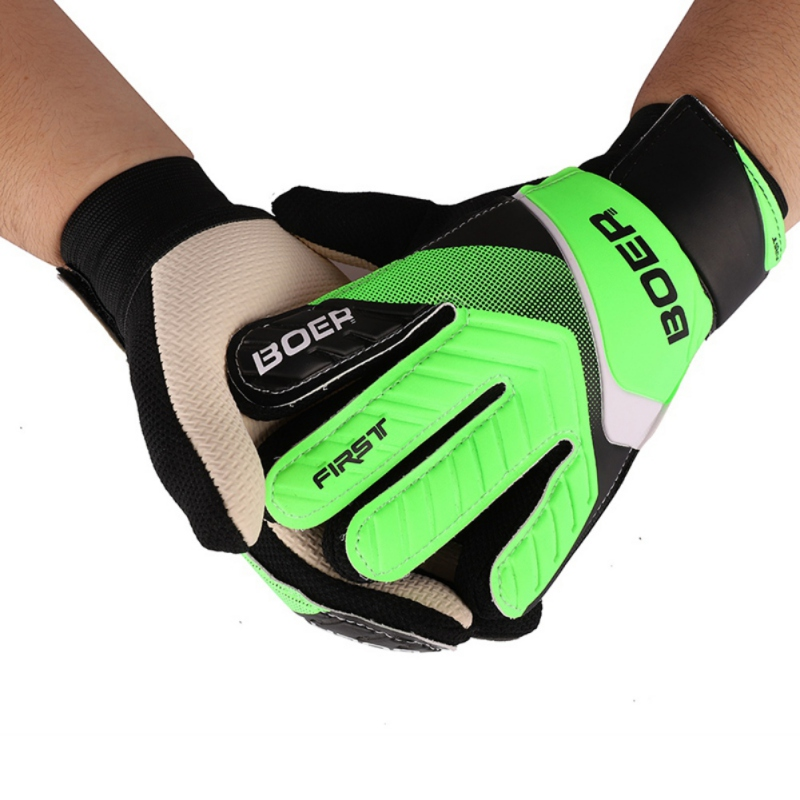 Goalkeeper Gloves Adult Outdoor Sports Football Soccer Goalkeeper Gloves Anti-Slip Goalie Gloves Size 8 9 10 Green Blue*