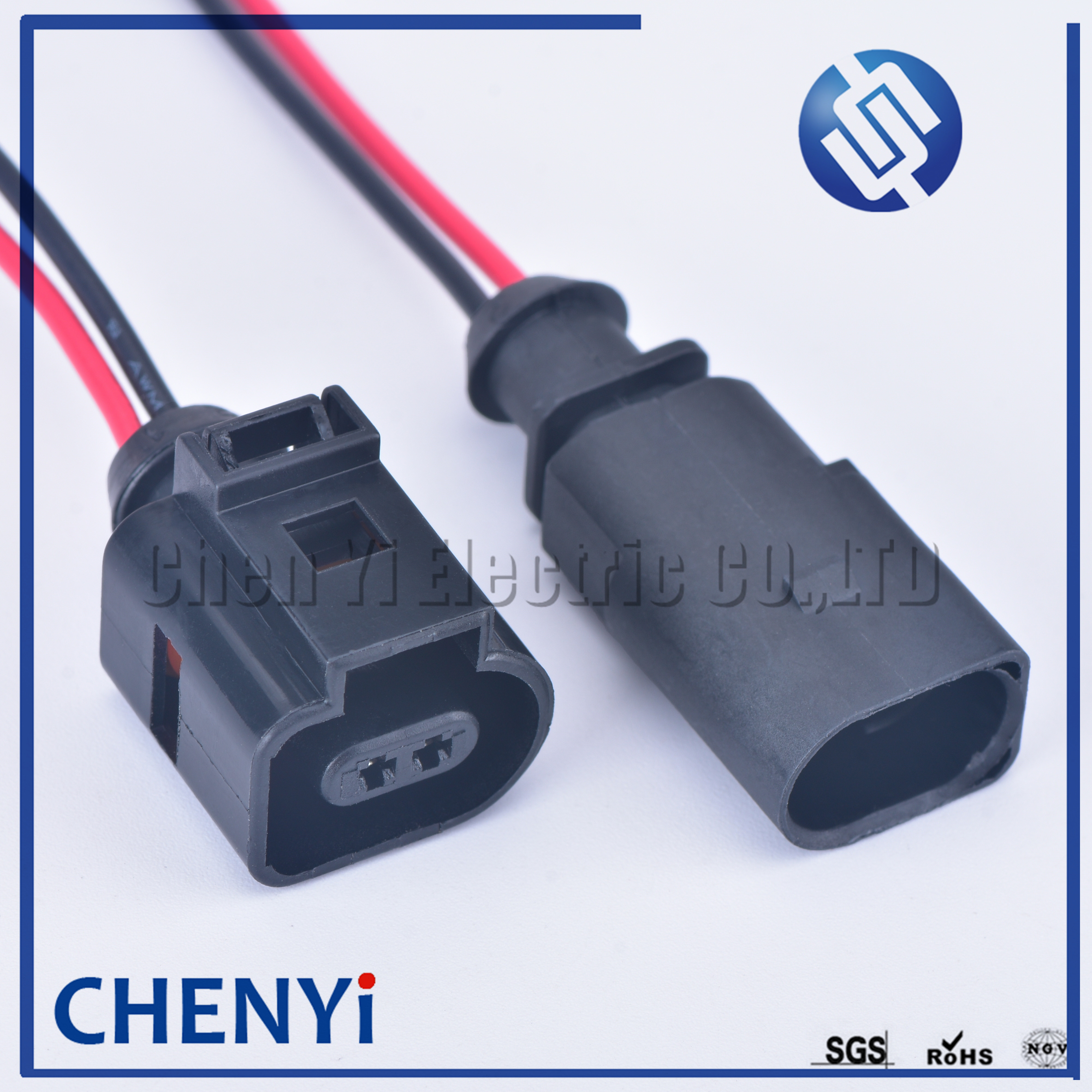 2 pinos 1j0973802 1j0973702 macho fêmea 1.5mm automático temp sensor plug válvula de deflação conector à prova dwithágua fio with15cm 18awg