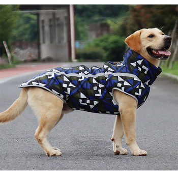 Pet dog clothes jackets, autumn and winter warm Reflective waterproof large, medium small dogs padded coats