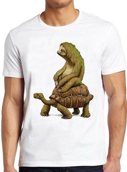 Sloth Tortoise T Shirt Speed Is Relative Science Geek Funny Cool Gift Tee 299