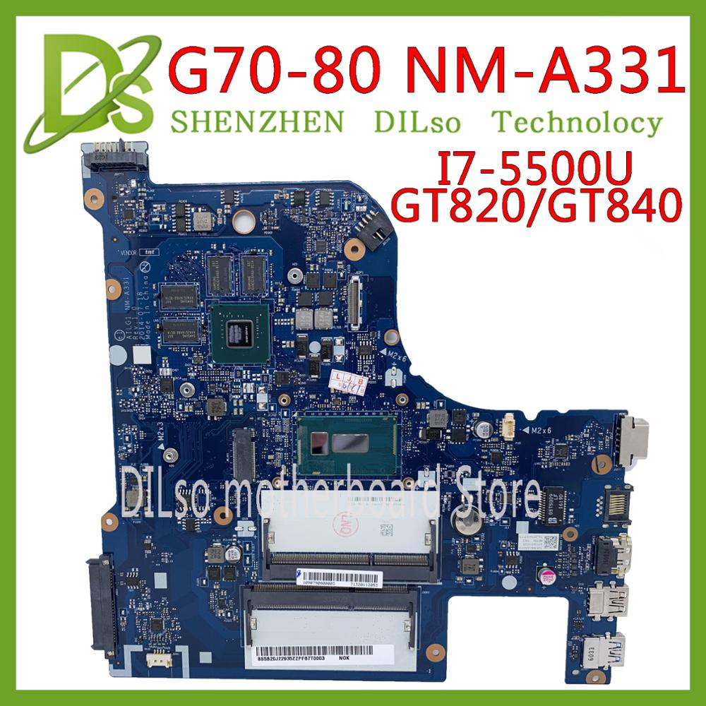 KEFU G70-80 <font><b>motherboard</b></font> For <font><b>Lenovo</b></font> G70-<font><b>70</b></font> B70-80 Z70-80 I7-5500U <font><b>motherboard</b></font> AILG NM-A331 with GT840M/GT820M Test 100% original image