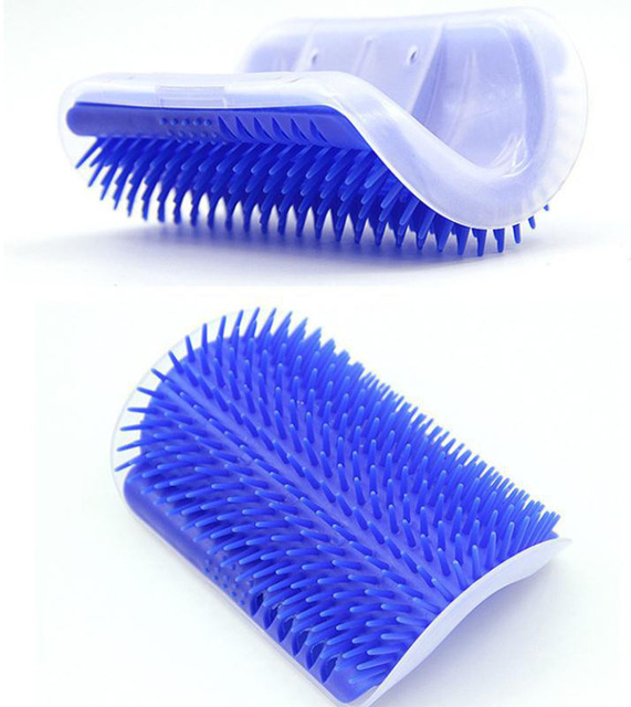 Cat Self Groomer Brush Pet Grooming Supplies Hair Removal Comb for Cat Dog Hair Shedding Trimming Cat Massage Device with catnip 2
