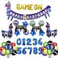 Декор для дня рождения Fortnite, шарик с игровой ручкой, фигурка альпака, набор графических шаров, товары для детского дня рождения, подарок для ...