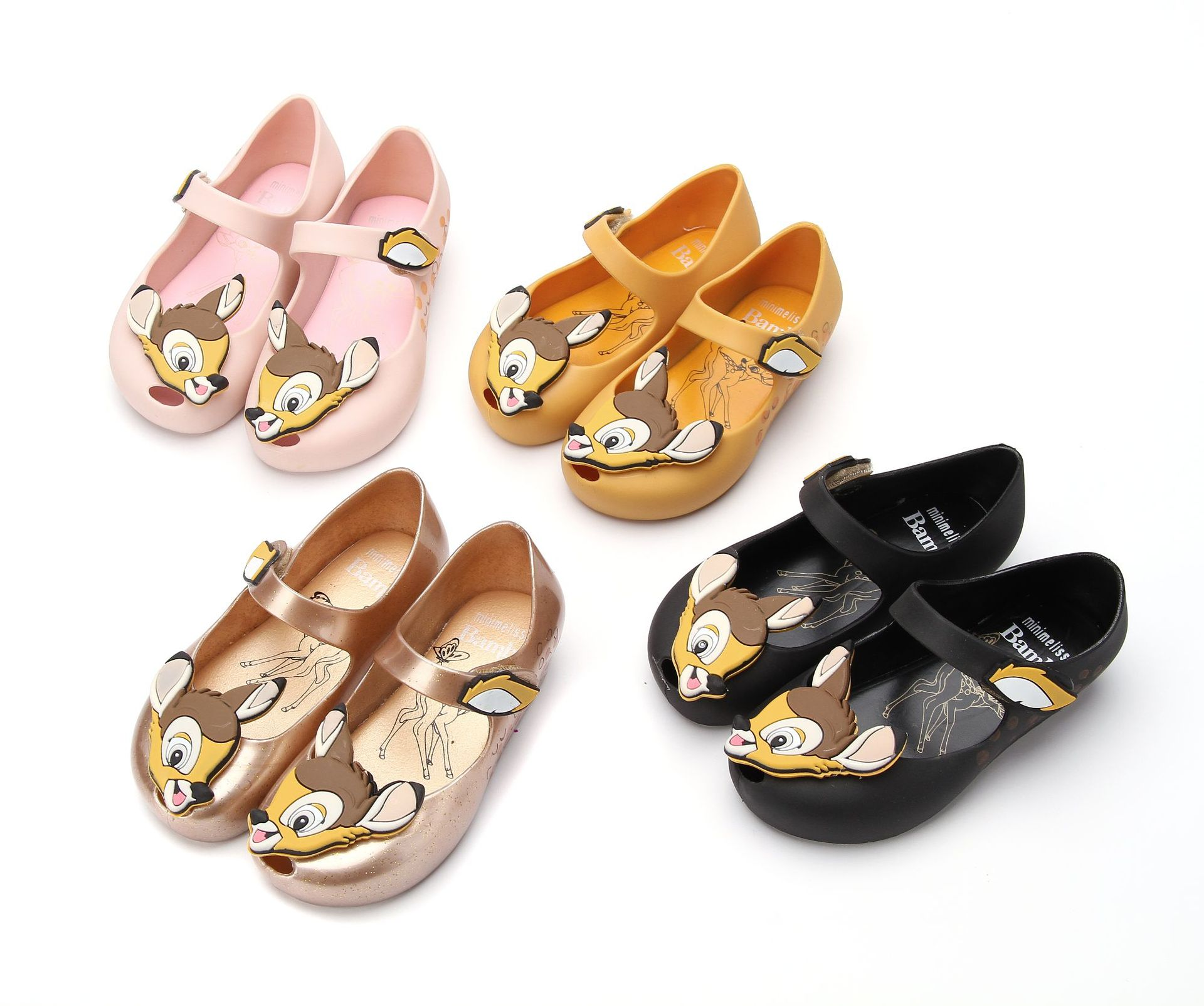 Mini Melissa Deer Bambi Girl Jelly Sandals Cartoon Animal Kids Candy Shoes Children Beach Shoes Non-slip Melissa Toddler SH19091