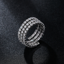 WEIMANJINGDIAN Brand New Arrival Cubic Zirconia CZ Crystal Stretched Rings in Adjustable Size
