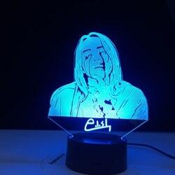 Американский певец, Songwriter 3d светодиодный Ночной светильник, вентиляторы, подарок, офисный домашний декоративный Ночной светильник, прикров...
