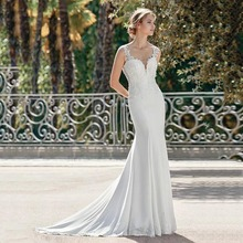 Eightree Princess Wedding Dress Mermaid Trumpet Sweetheart Neck Cut-Out 2019 Lace Appliques Robe de soiree