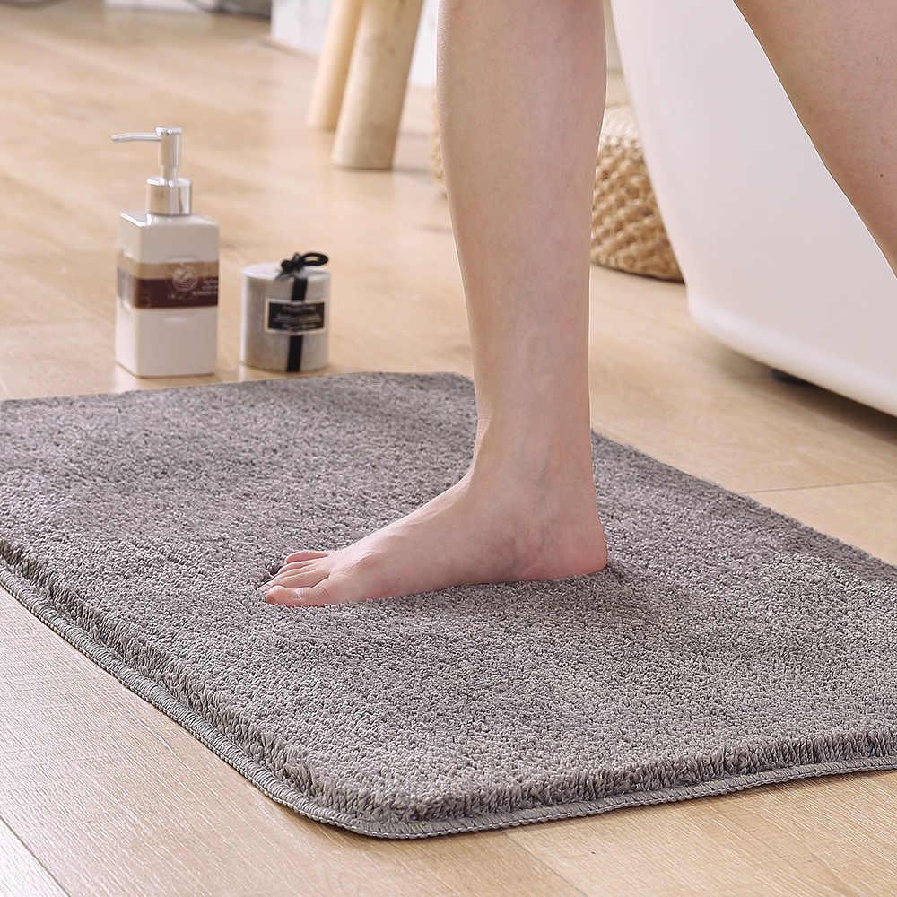 Wielkoformatowa mata łazienkowa dywan antypoślizgowa łazienka mata do prysznica polarowy dywanik kąpielowy maty wc mocna absorpcja tapis salle de bain