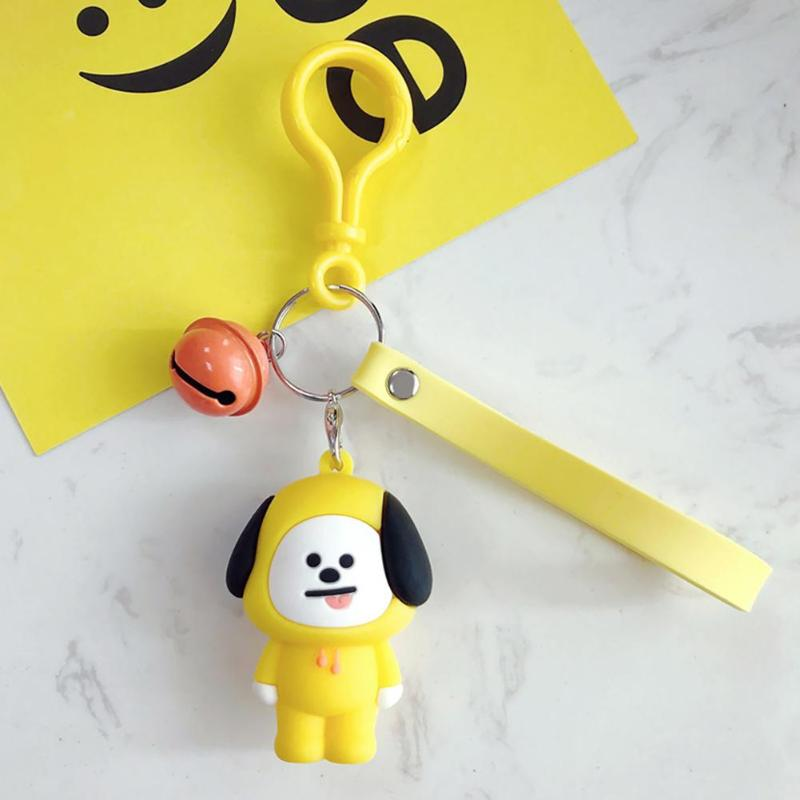 Cute Korean Women Men Cartoon Character Keychain Keyrings Bags Pendant Birthday Gifts Key Pendant Bag Pendant Birthday Gift