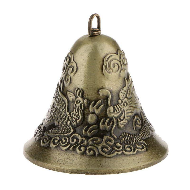 Колокольчики фэн шуй мини Фэн Шуй китайский талисман дракон колокол и Феникс фигурка Декор колокольчики для украшения|Рождественские колокола|   | АлиЭкспресс