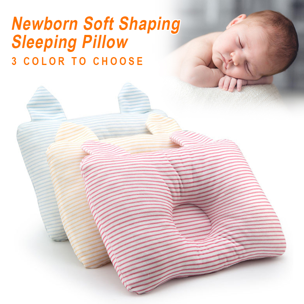 Cute Newborn Boy Girl Pillows Baby Shaping Pillow Prevent Flat Head Infants Bedding Pillows Decorative For 0-24 Month Baby
