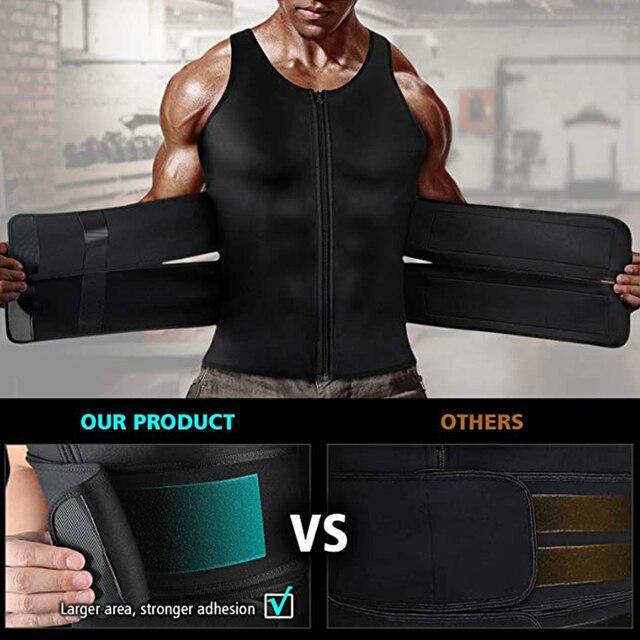 Мужские сауна жилет для сжигания жировой прослойки с боков и живота 5