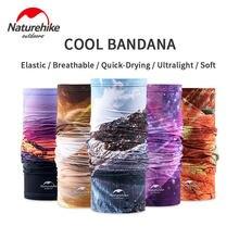 Naturehike yaz spor buz serin Bandana nefes hızlı kuru naylon eşarp kadınlar/erkekler açık başörtüsü bisiklet maskesi 5 renk
