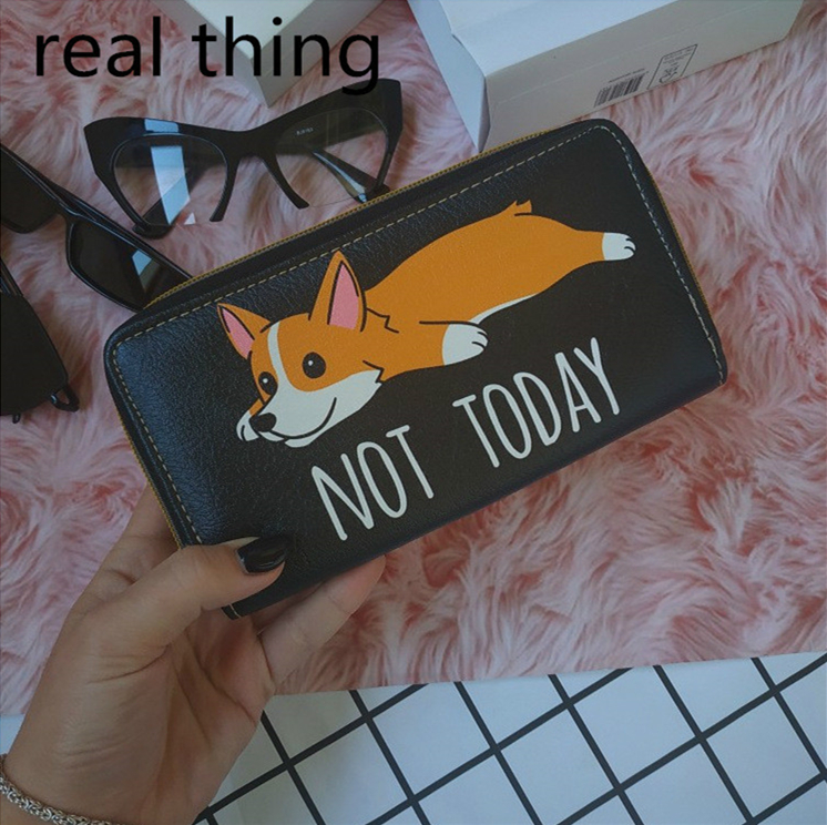Cute Hamster Golden Bear 3D Printing Women's Wallets PU Leather Long Coin Purse Female Famous Brand Card Holder Portmonee