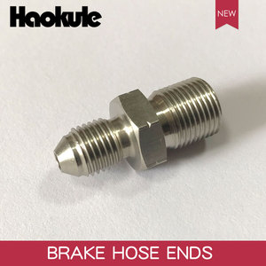 Image 2 - HAOKULE  AN3 3/8x24 UNF to M12x1.25 / M12x1.5 / M12x1.0 Male Bubble Flare Stainless Steel Brake Fittings INVERTED FLARE Adapter