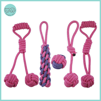 Питомцы игрушечные собаки, устойчивые к укусам, ватный шарик, веревка с узлом, игрушка, интерактивный Щенок, Жевательные Зубы, игрушки для чистки собак и кошек