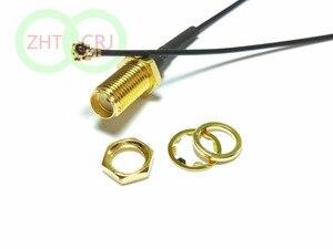 Image 1 - 3000PCS SMA female nut bulkhead to IPX U.FL female 1.13 cable pigtail