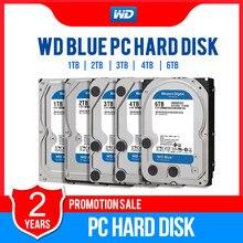 Ocidental digital wd blue 1tb 2tb 3tb, 4tb 6tb pc disco rígido sata 6 gb/s 3.5