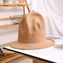 Fedora Hat For Women Men 100% Australian Wool Felt Wide Brim Hat Vintage Jazz