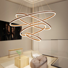 Modern led chandelier For livingroom Aluminum Chandelier lighting Creative Nordic lustre moderno lampadari avize modern salon