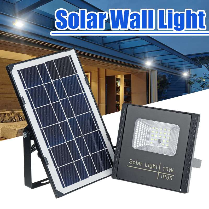 10W Waterproof IP65 Solar Light SMD2835 Solar Panel LED Flood Light Floodlight Outdoor Security Wall Lamp With Remote Controller