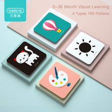 Beiens Baby Montessori Toys Pocket Flashcards for 0 36 Months Newborn Learning card Toys Children Early Educational Cognize Card
