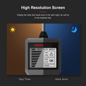 Image 2 - Brake Fluid Tester DOT 3/4/5.1 LED Display Water Content Detector Sports Car Motorcycle BF100 BF200 Oil Quality Test Tool