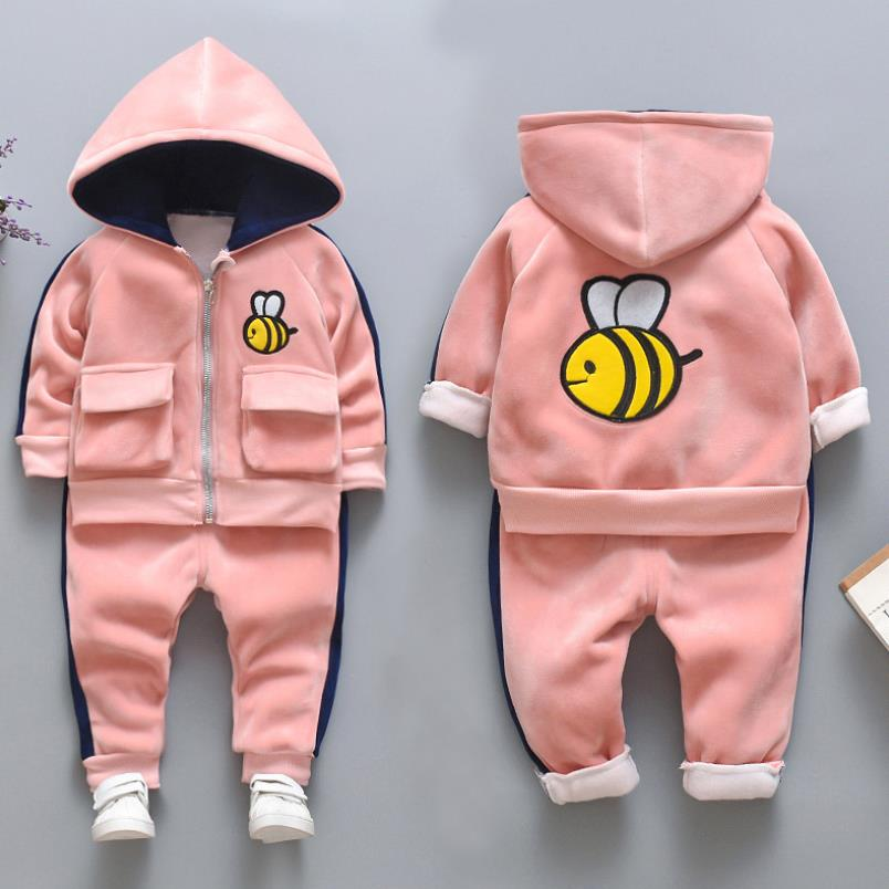 2021 New Children's Clothes Sets Winter Girls and Boys Hooded Down Jackets Coat-Pant Overalls Suit for Warm Kids Clothin 5