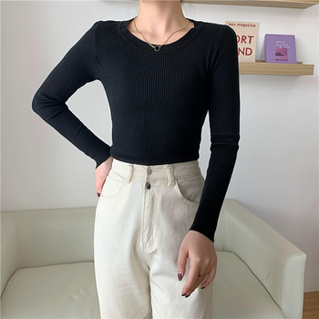 New Female Sweater Women Winter Pullover Knitting Oversize Long Sleeve Girls Tops Loose Sweaters Knitted Outerwear Thin Sexy spring summer loose women pullover sweater hollow out sexy lace knitted plaid top long sleeve thin female pullover and sweater