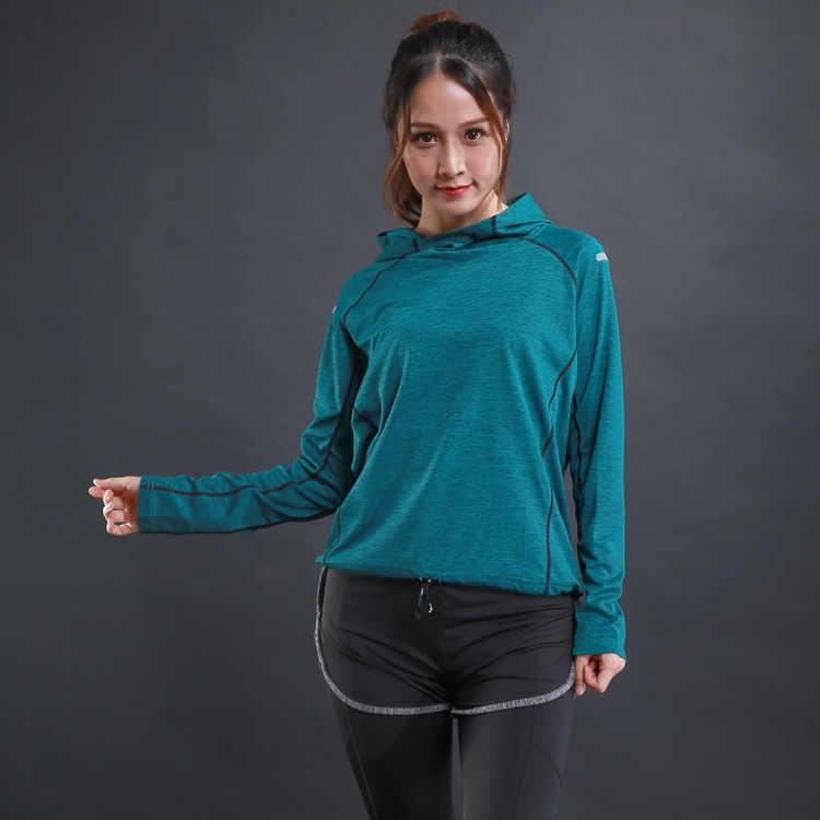 BAOBOK נשים ארוך שרוול יוגה חולצות ספורט גופיות ספורט חולצות כושר ריצה אימון ריצה כושר בגדים