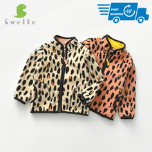 SVELTE for 2 7 Yrs Kid and Toddler Girl Fleece Jacket for Spring Fall Winter Clothes with Print Leopard Stripes