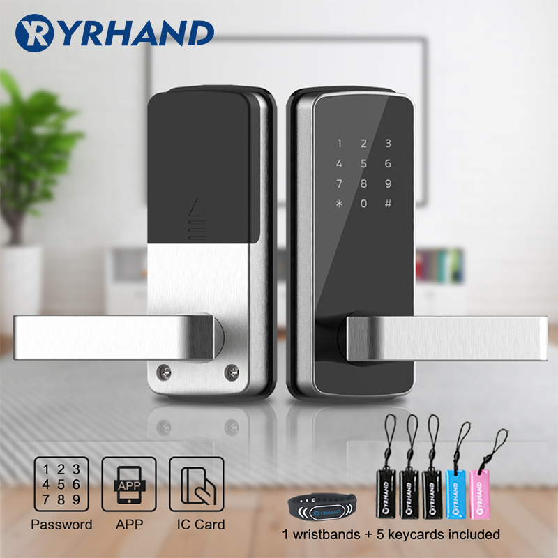 WiFi Digital Electronic Smart Door Lock App, Smart Home Mobilephone App Intelligent Bluetooth Keypad Password Door Lock