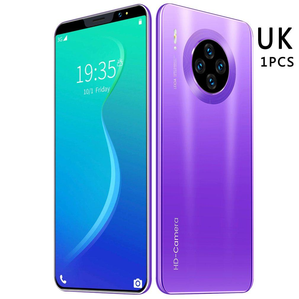 Mate33 Pro Smartphone with 512M+4GGB Large Memory 5.8 Inch Screen Support Face/Fingerprint Unlock Dual SIM Mobile Phones